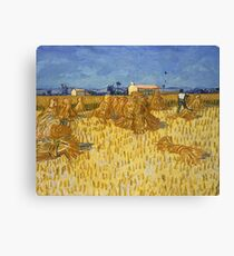 Vincent Van Gogh - Wheat Fields With Cypresses 1889 Canvas Print