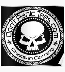 Dont Panic Skull logo Poster