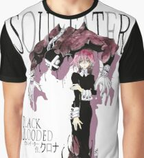 BLACK BLOODED / WHITE Graphic T-Shirt