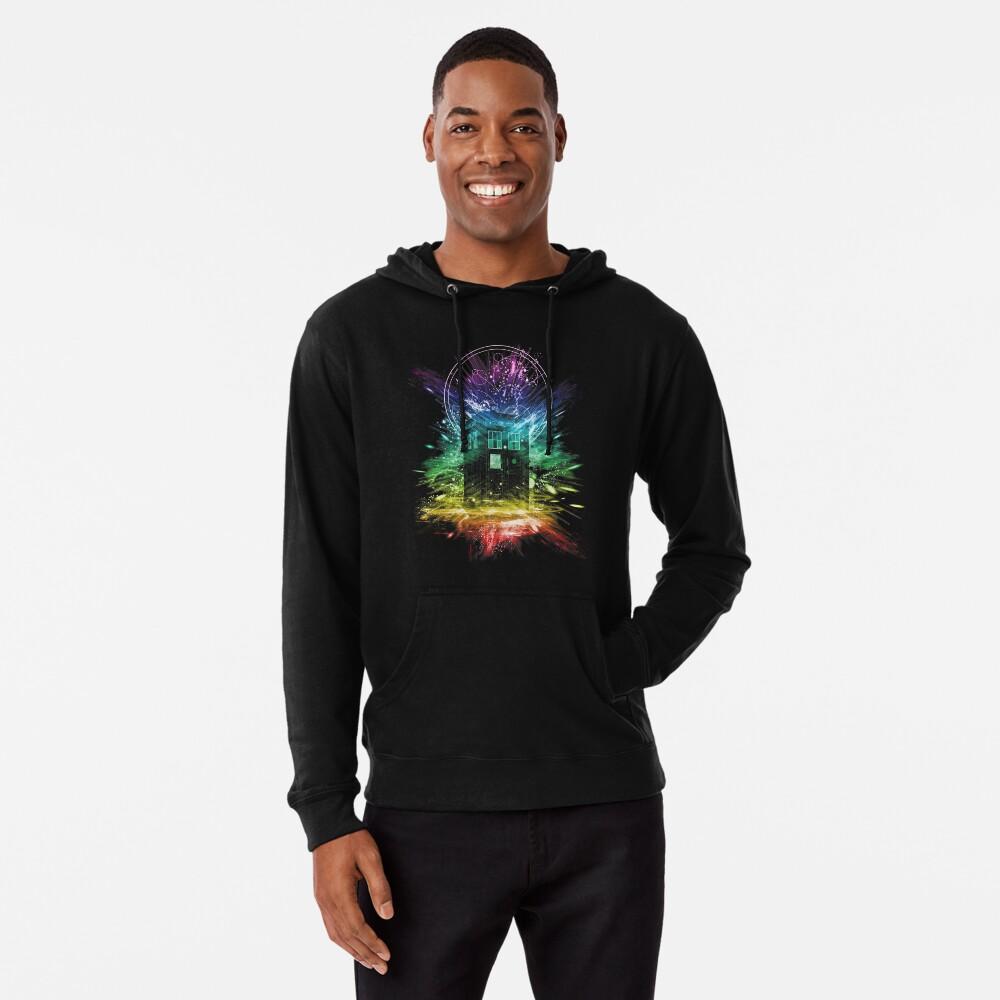 time storm-rainbow version Lightweight Hoodie