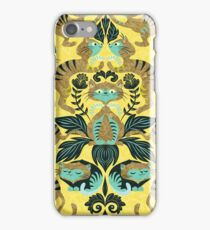 yellow damask cats iPhone Case/Skin