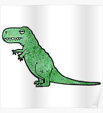 cartoon tyrannosaurus rex Poster