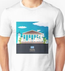 Travel to Greece skyline Unisex T-Shirt