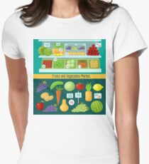 Fruits and Vegetables Market. Healthy Eating Concept T-Shirt
