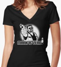 mark it zero  Women's Fitted V-Neck T-Shirt