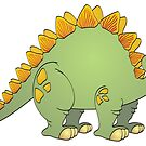 Green Stegosaurus Cartoon by Graphxpro