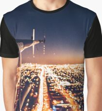 miami night view from helicopter Graphic T-Shirt