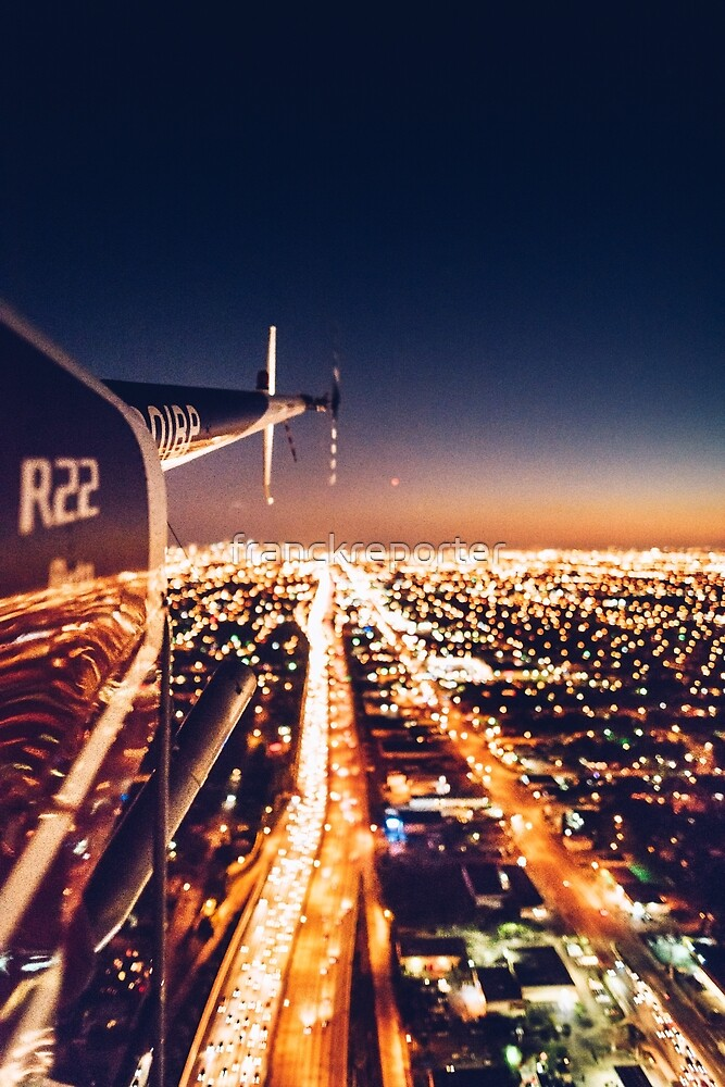 miami night view from helicopter by franckreporter