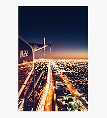 miami night view from helicopter Photographic Print