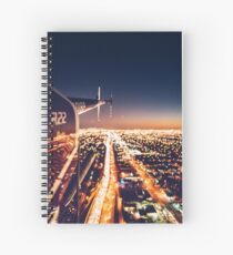 miami night view from helicopter Spiral Notebook