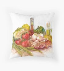 Still life with vegetables Throw Pillow