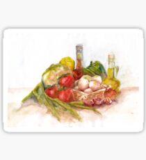 Still life with vegetables Sticker