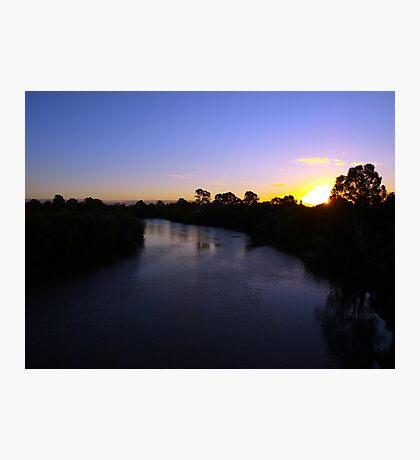 Logan River Sunset Photographic Print