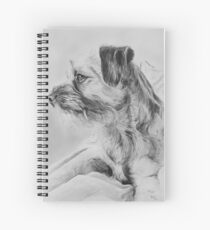 """""""Ruby"""" - Dog portrait Spiral Notebook"""