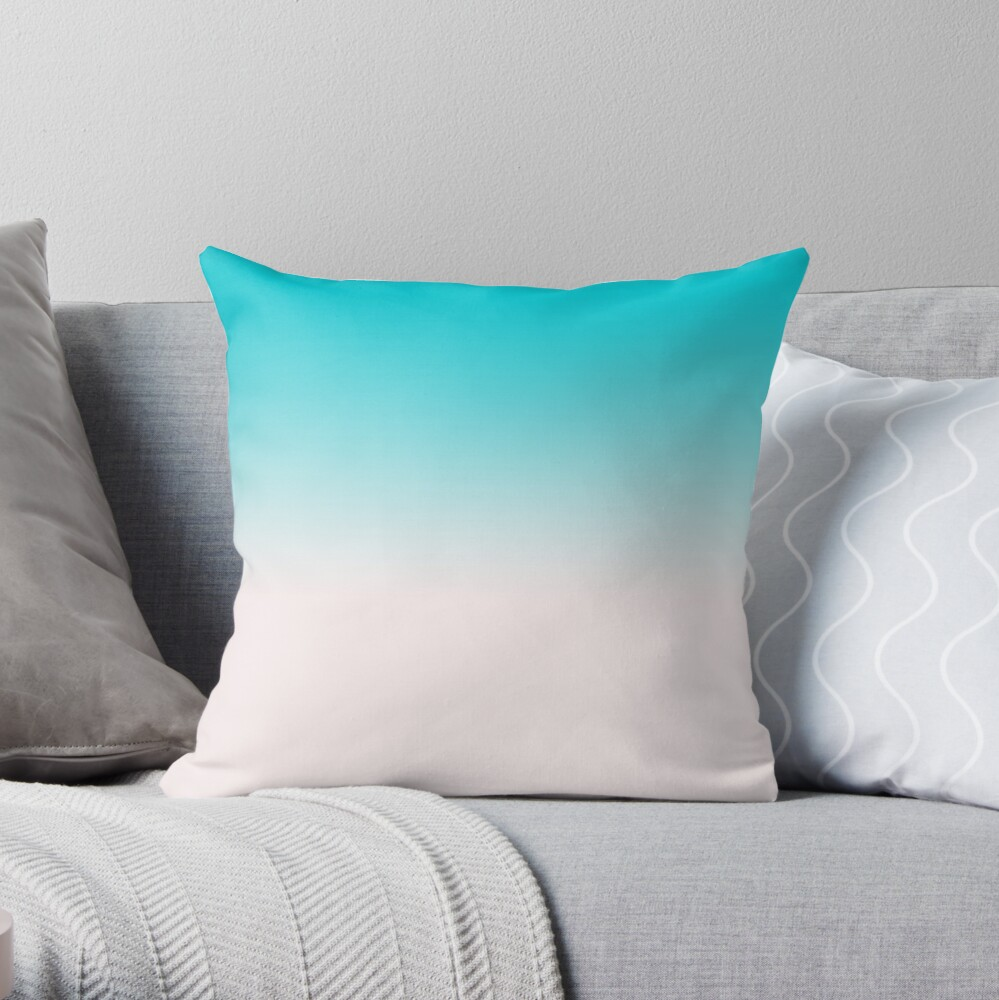 Ombre in Blue Throw Pillow