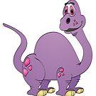 Purple Brontosaurus Cartoon by Graphxpro