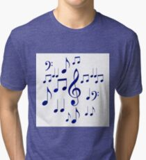 Singing The Blues Abstract Symbol Art Tri-blend T-Shirt