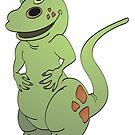 Green Tyrannosaurus Rex Cartoon by Graphxpro