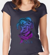 THE JOKER - FORTUNE FAVORS THE BOLD Women's Fitted Scoop T-Shirt