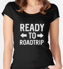 Best Seller: Ready To Road Trip Women's Fitted Scoop T-Shirt
