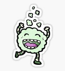 cartoon gas cloud creature Sticker
