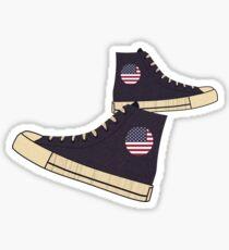Vintage American Flag Freedom Tennis Shoes Sticker