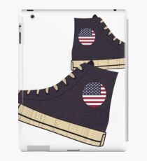 Vintage American Flag Freedom Tennis Shoes iPad Case/Skin
