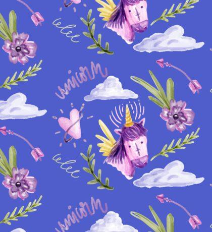 Cute watercolor unicorns Sticker