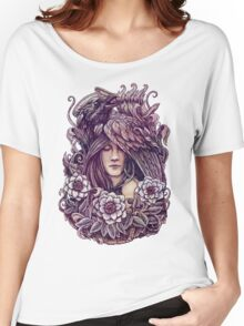 Crow T-shirt femme coupe relax