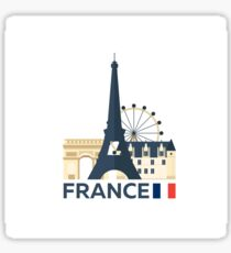 France, Paris skyline Sticker