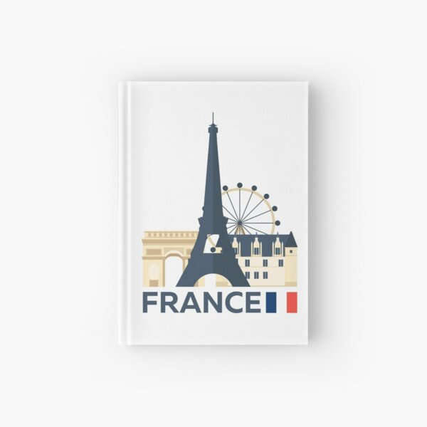 France, Paris skyline Hardcover Journal