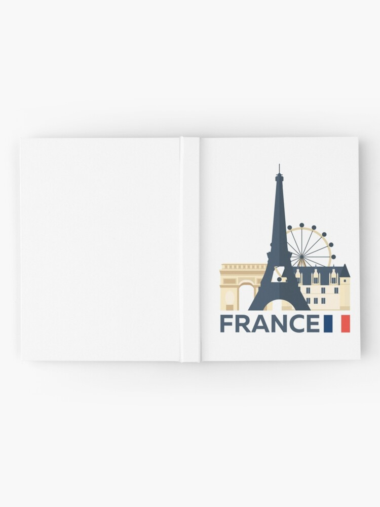 Alternate view of France, Paris skyline Hardcover Journal