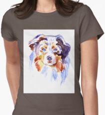 Watercolor Australian shepherd T-Shirt