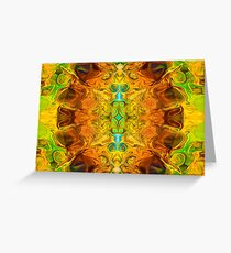Energy Experiences Abstract Healing Artwork  Greeting Card