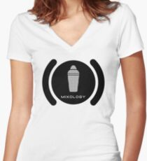 Bartender Mixology Lounge Logo Vector Women's Fitted V-Neck T-Shirt