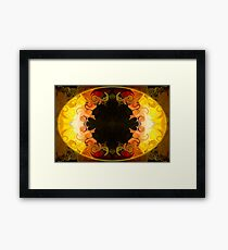 Undecided Bliss Abstract Healing Artwork  Framed Print