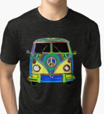 Peace Bus - Psychedelic Tri-blend T-Shirt