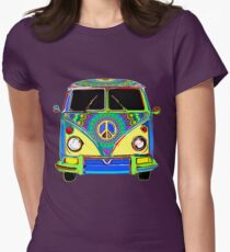 Peace Bus - Psychedelic Womens Fitted T-Shirt