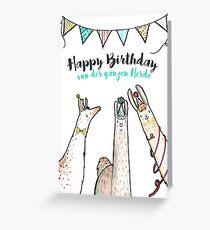 Lamaglückwünsche: Happy Birthday - von der ganzen Herde!  Greeting Card