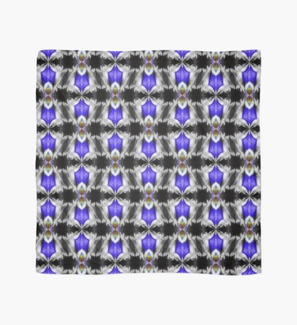 Blue Gentian Flower Abstract Art Scarf