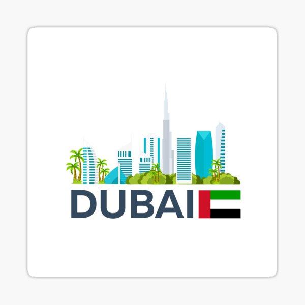 Travel to UAE, Dubai skyline Sticker