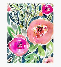 Peach Floral Photographic Print
