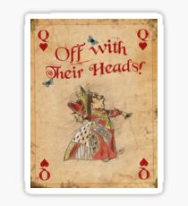 Alice in Wonderland, The Queen Of Hearts Sticker