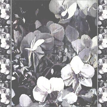 Bande Camaïeu Orchidées Grain by lynnGrayson