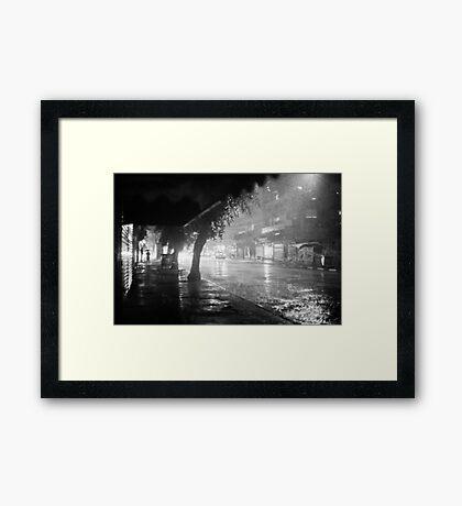 dark and rainy Framed Print