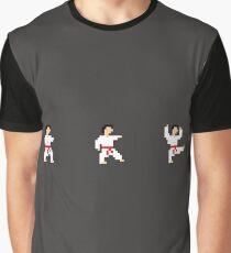Martial Artist Kicking Graphic T-Shirt