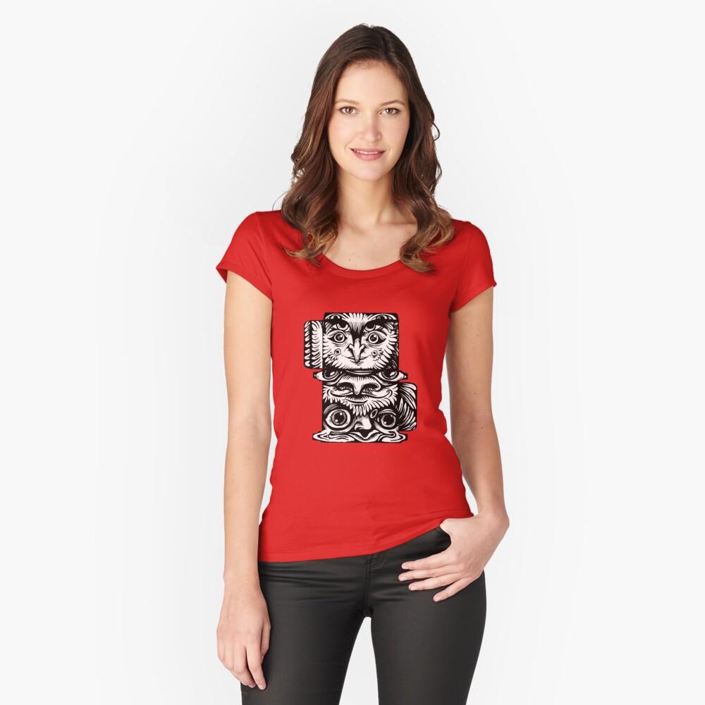 Strange Totem Fitted Scoop T-Shirt