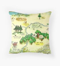 100 Aker Wood Winnie the Pooh By AA Milne Throw Pillow