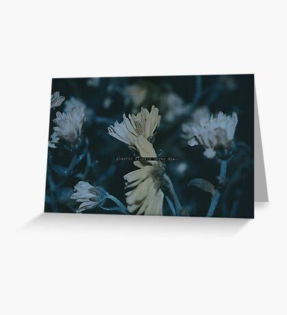 Plastic flowers Greeting Card