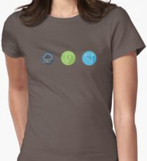 Minimal Severe Weather Womens Fitted T-Shirt